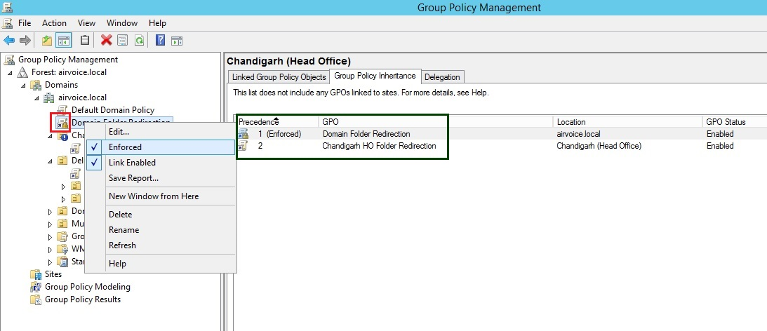 Figure 1.10 Enforcing a GPO