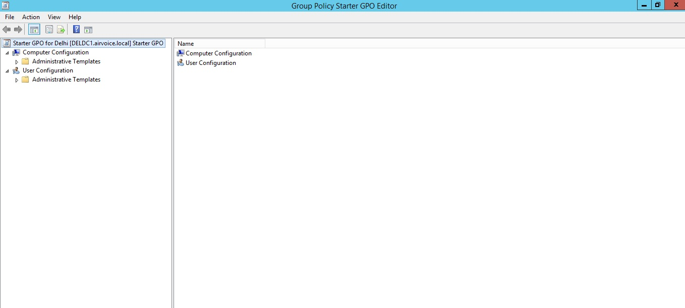Figure 1.30 Group Policy Starter GPO Editor