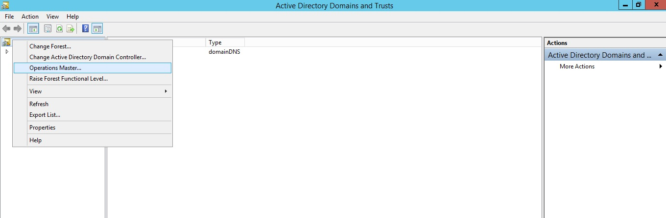 Identify Forest-wide Roles using Active Directory Domain and Trusts utility