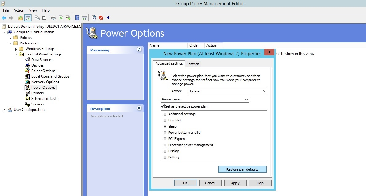 Figure 1.23 Set New Power Plan for Portable Computers