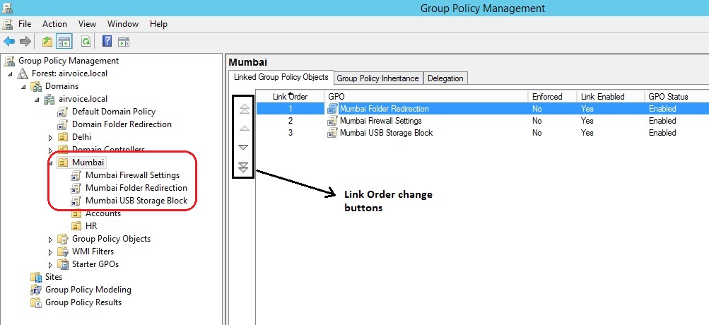 Figure 1.6 Setting the Link Order
