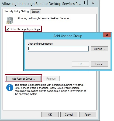 Figure 1.17 Setting with more configurable options