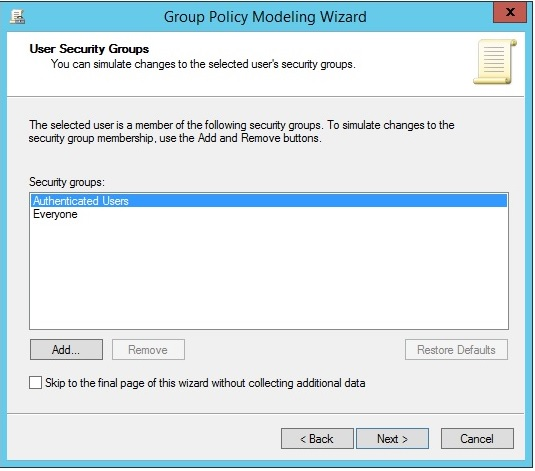 Figure 1.36 User Security Groups