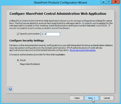 SharePoint Central Web App Configuration