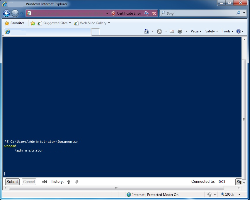 powershell-web-access-console