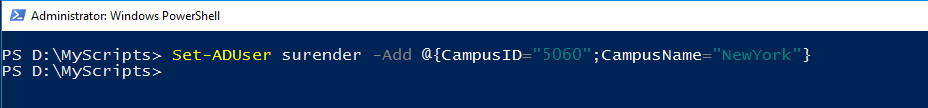 Set-ADUser PowerShell