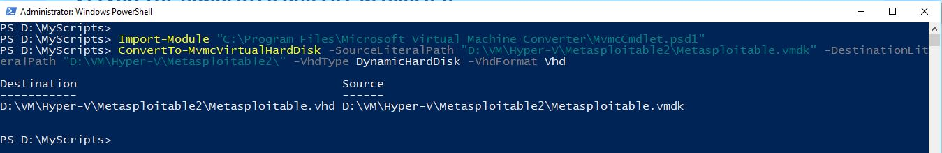 Metasploitable-VHD-Conversion